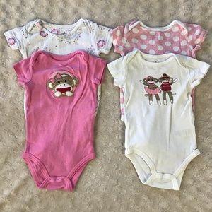 Baby Starters Sock Monkey & Aden Anais Bodysuits